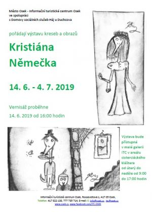 An exhibition of drawings and paintings by Kristián Němeček